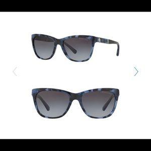 Michael Kors 54mm Square Sunglasses Tort Blue NIB